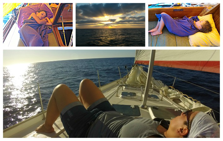 Pisolino in barca