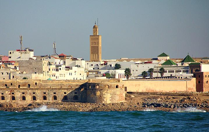 Arrivo a Rabat in barca