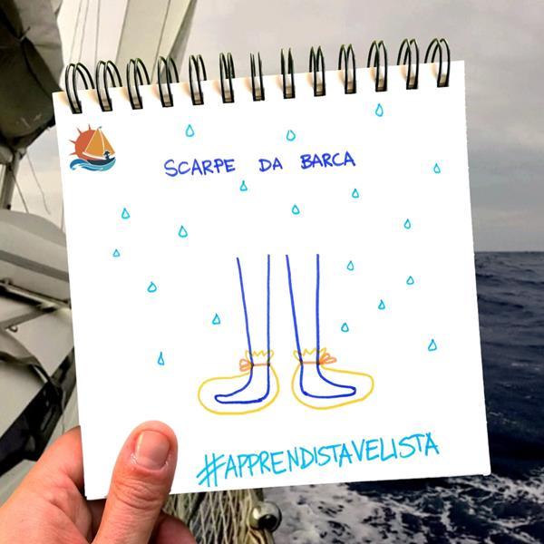Apprendista velista: scarpe da barca