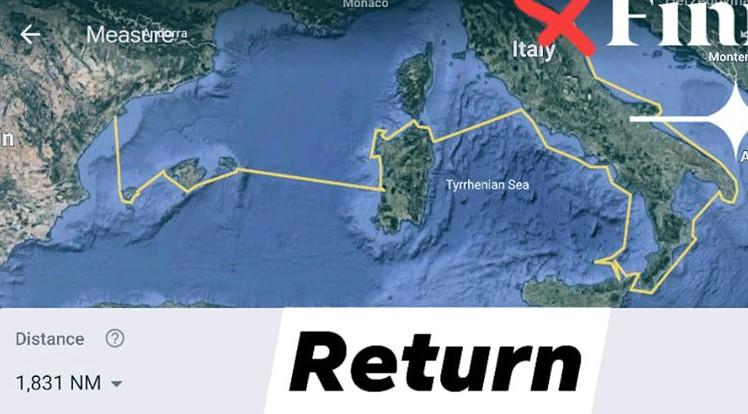 Navigazione di ritorno di Djuca e Tim