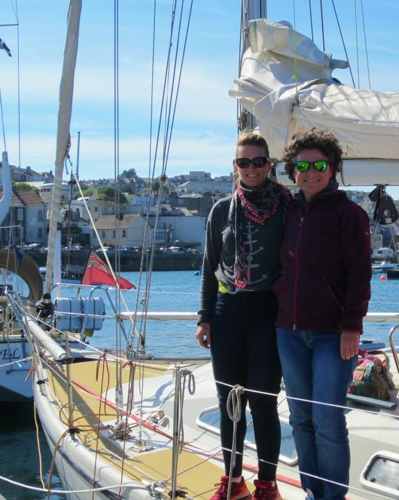 Marina e Jayne alla partenza della AZAB