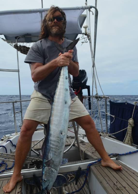 Giovanni Malquori durante la traversata oceanica in barca a vela